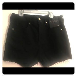 Banana Republic 3' high rise short denim black NWT